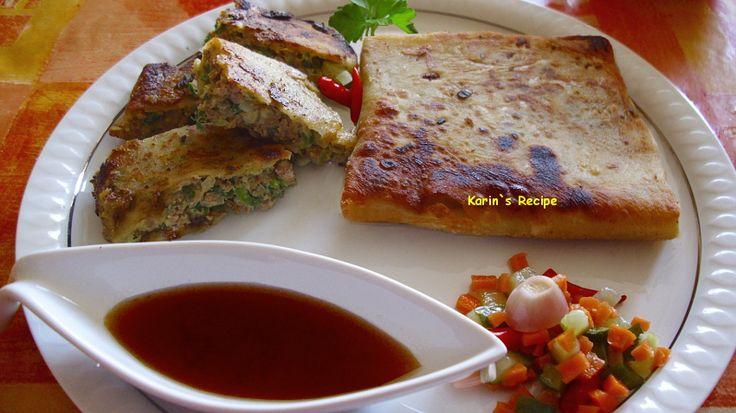 Karin`s Recipe: Martabak Telur (Pan Fried Beef & Vegetables Wrap)