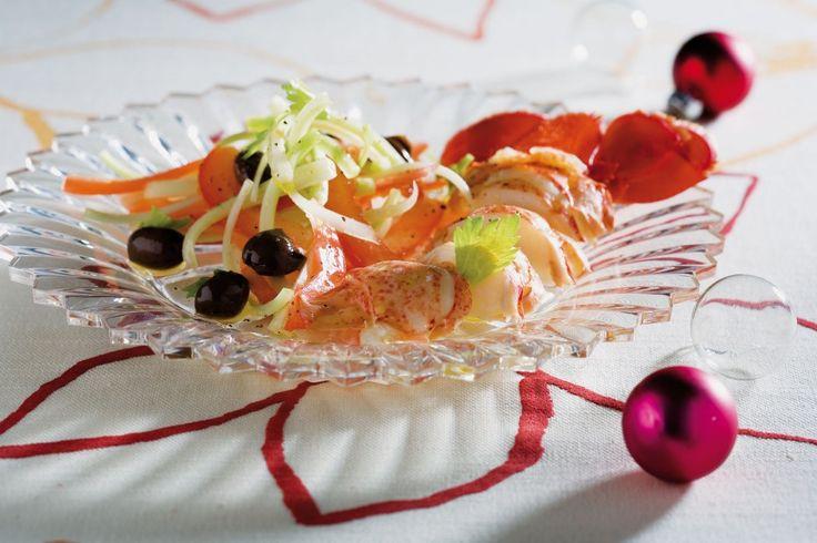Insalata d'astice al succo di pompelmo rosa ricetta