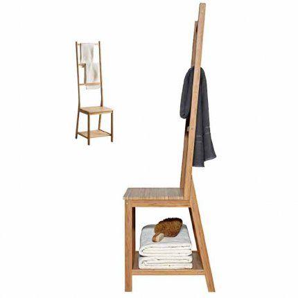 Een creatieve en leuke manier om je handdoeken te kunnen ophangen en neerleggen in de badkamer! #IKEAcatalogus