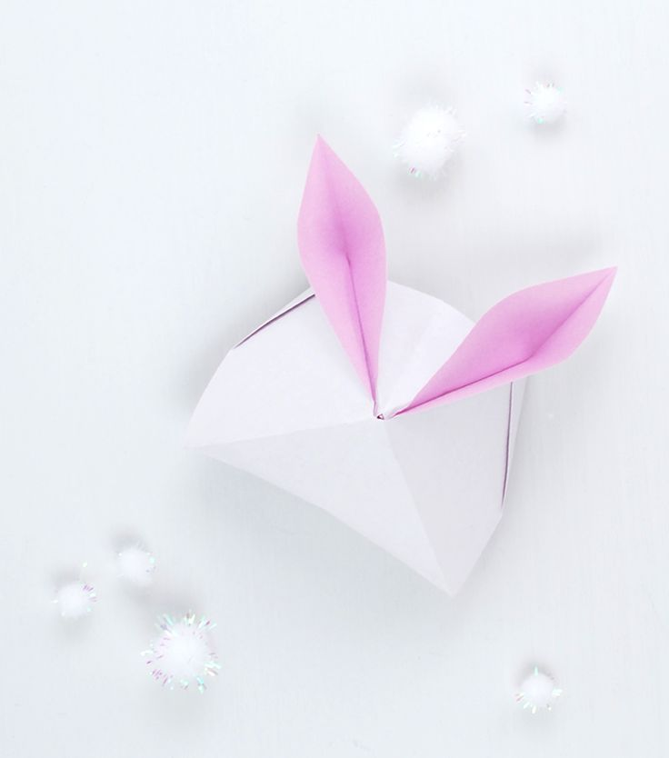 How to make a sweet Origami Paper Bunny Box to fill with Easter treats. For free!