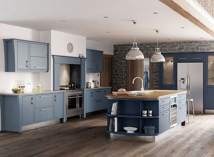 Modern Country Kitchen Blue 473 best country kitchen images on pinterest | country kitchens