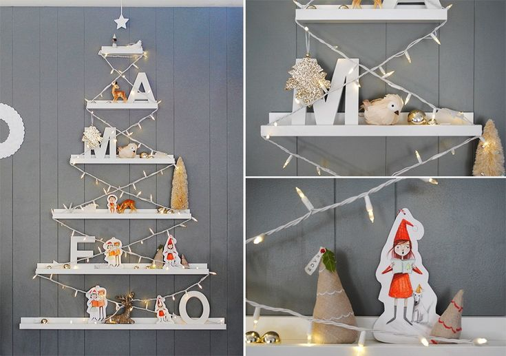 mer mag: Our DIY IKEA RIBBA Picture Ledge Tree