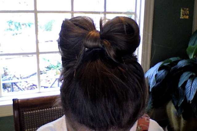 Hair in a bow! Very quick and easy to do! | Hair, Cute hairstyles, Bow hairstyle