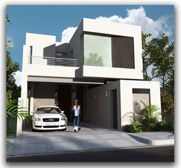 Fachadas Contemporáneas: Egenate fachada contemporánea con terraza