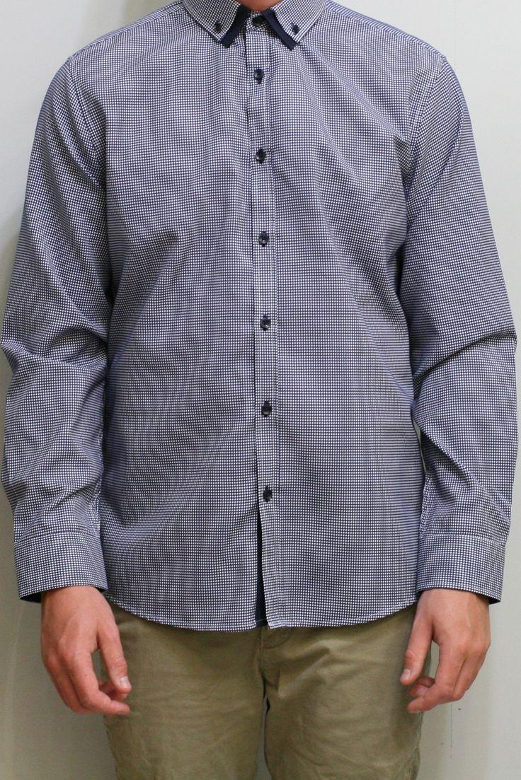 Osborne Jacquard Shirt - Navy