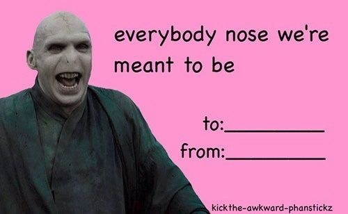 harry potter valentines | ANDPOP | 12 Of The Best Celebrity Valentine's Day Meme Cards
