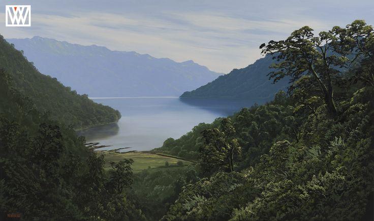 Lake Waikaremoana New Zealand original paintings for sale  http://waynevickers.com/gallery