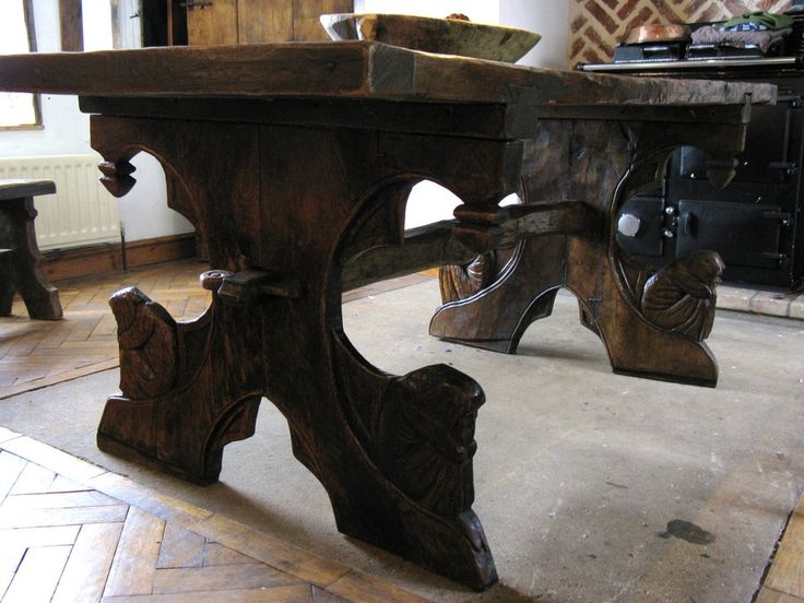 Viking Medieval Oak Table By Oakviking On DeviantART | Awesome | Pinterest  | Oak Table, Trestle Tables And Bench