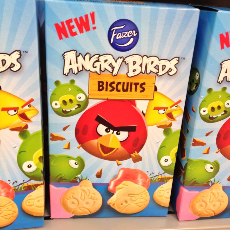 Angry Birds biscuits