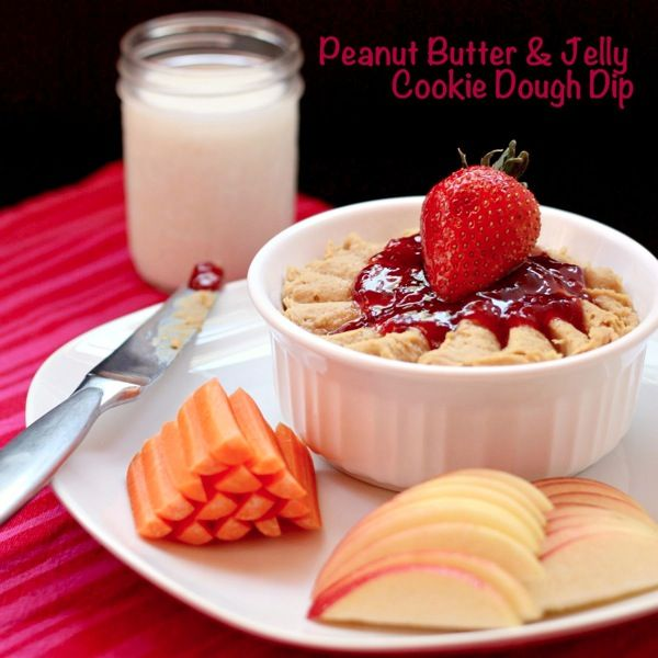 peanut butter and jelly cookie dough dip