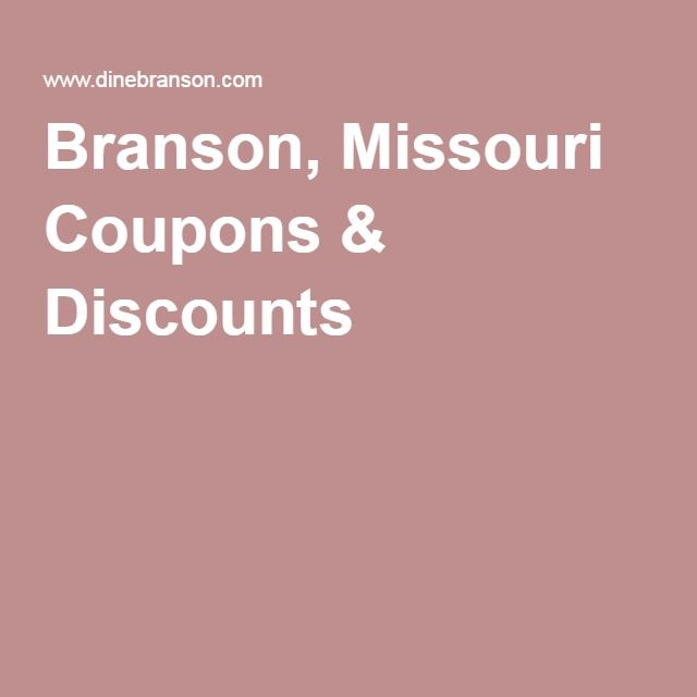 Branson discounts and coupons