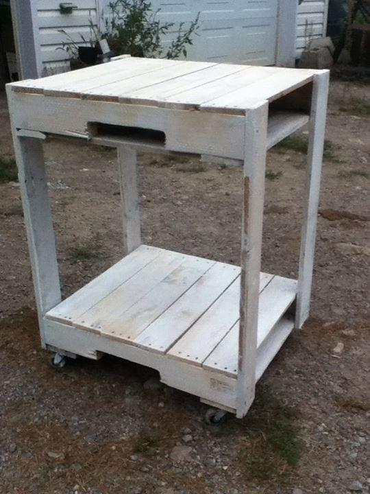 Pallet microwave cart #DIY, #Kitchen, #Pallet