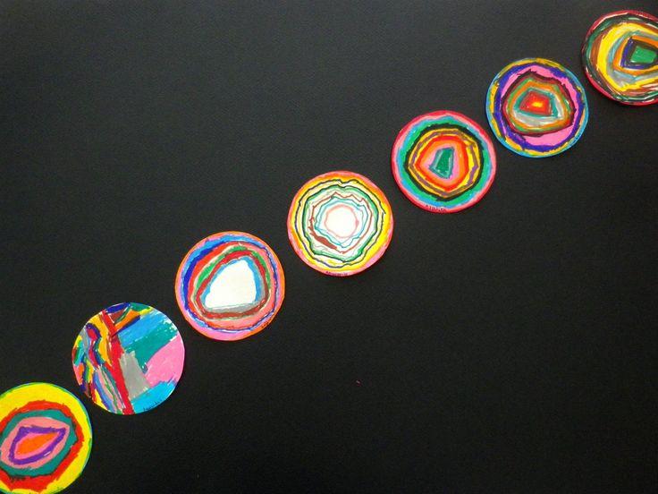 Ζωγραφίζουμε την «τελεία μας» με τη φαντασία μας!!! Με πολλές τελείες τη μία δίπλα στην άλλη μπορούμε να φτιάξουμε μια γραμμή… ένα τετράγωνο… ένα τρίγωνο… έναν κύκλο… ένα ου…