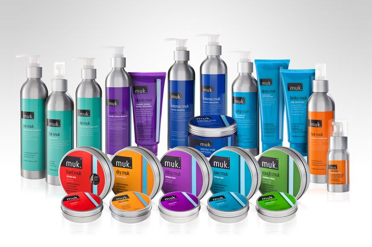Muk - hair products - product photography