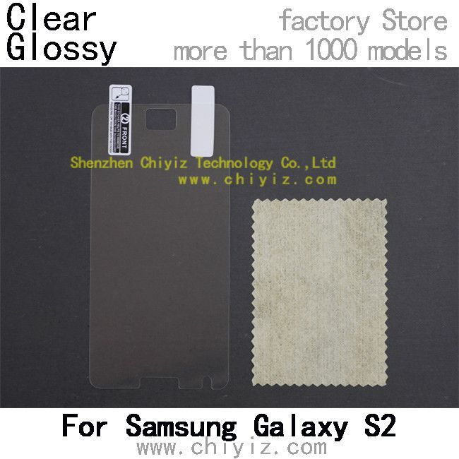 Clear Glossy screen protector protective film for Samsung Galaxy S2 / S II / S2 Plus / S II Plus i9100 i9105