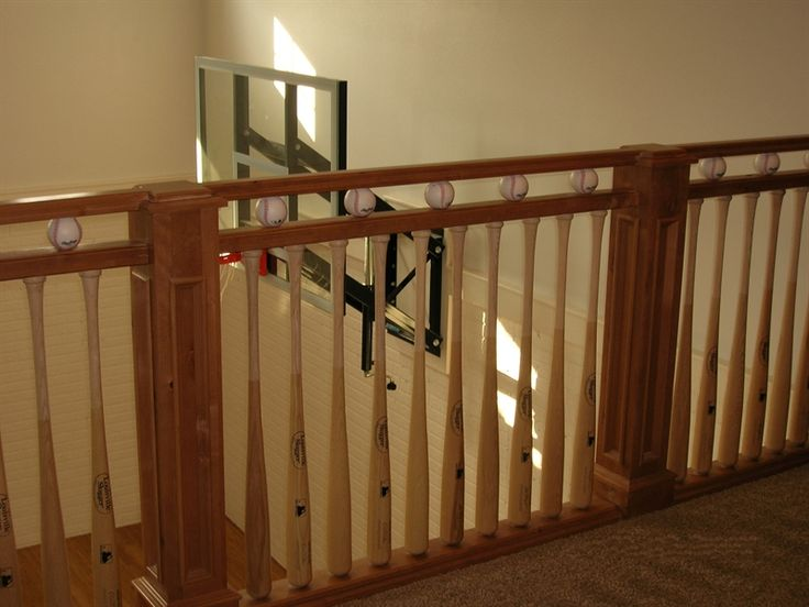 Baseball bat hand rail