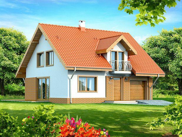 117,38 m². Dom energooszczędny, tani w budowie i eksploatacji, idealny dla 4 osobowej rodziny. Niewątpliwym atutem jest duża lukarna z ażurowym balkonem. Wrażenie robi również przestronny, dobrze oświetlony salon z tarasem.