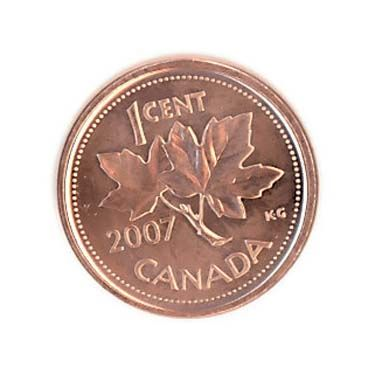 """The Penny  The Canadian 1 Cent Piece   """"see a penny, pick it up, all day long you'll have good luck"""""""