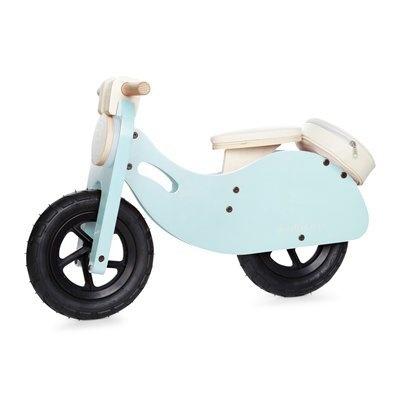 Indigo Wooden Vespa Style Scooter - Blue