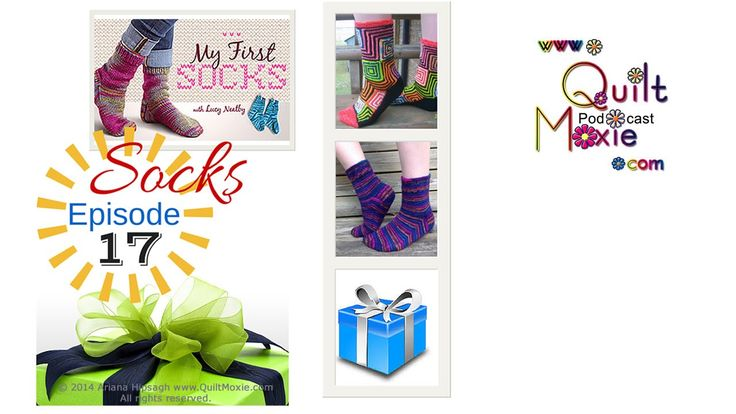 17 Socks  Show notes and everything QuiltMoxie at http://www.QuiltMoxie.com/shownotes  Topics : 1. Gallery - Yazzii Giveaway 2. My First Socks 3. KALs 4. Demo - CroCUS on YouTube  Yazzii exclusive … new product launch in the Gallery and there is a Giveaway . My First Socks by Lucy Neatby is the latest Craftsy class that Ariana has enjoyed .  Ariana talks about the Op-Art Socks by Stephanie Van Der Linden KAL on Ravelry.com and the Easy Breezy Brioche KAL (knit a long) .