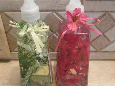 Decorative Flower Stuffed Bottled Liquid Hand Soap For