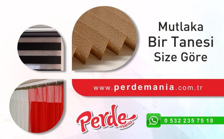 Perdemania'da yüzlerce çeşit perde modeli var. Mutlaka bir tanesi size göre. #perde #zebra #stor #dikey #tül #plicell #çiftlisistem #jaluzi #fırsat