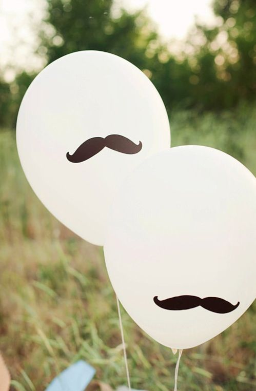 cute and simple mustache decoration