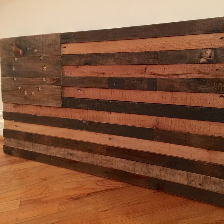 Betsy Ross style reclaimed pallet American flag