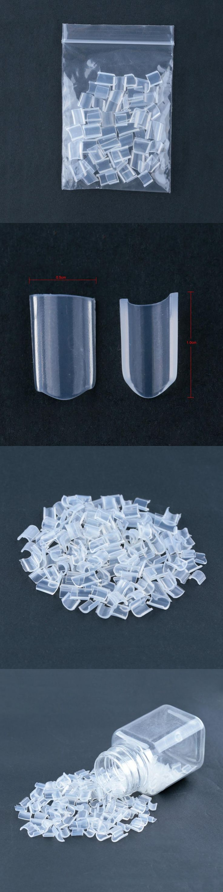 Neitsi Keratin Glue Nail U Shaped Tip For Fusion Keratin U Tip Hair Extensions White 50pcs/pack