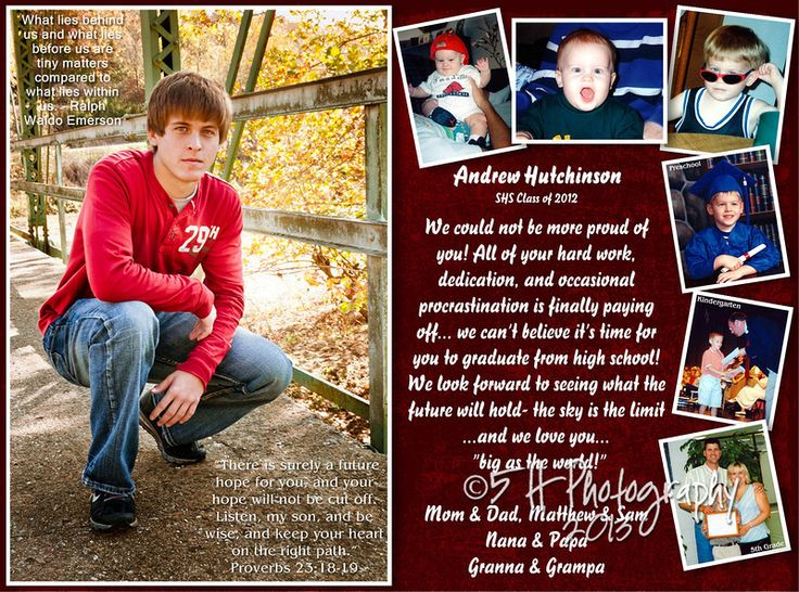 Senior Yearbook Ad/Page ~ ~ StoneLove Designs on ETSY ... |Senior Dedication Ideas