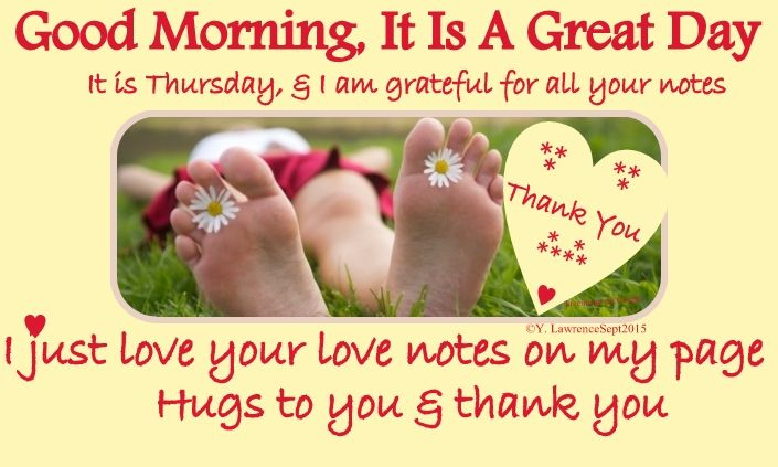 Good Morning, It is Thursday  A great day for thoughtfulness and mindfulness