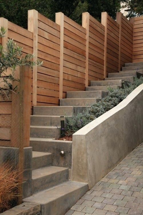 How To Build A Retaining Wall On Steep Slope Image Result For Against Fence Building Rossmi Info