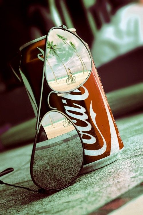 Mirrored aviators and coca cola - always makes me think of Heath Sammons. I love and miss you forever.
