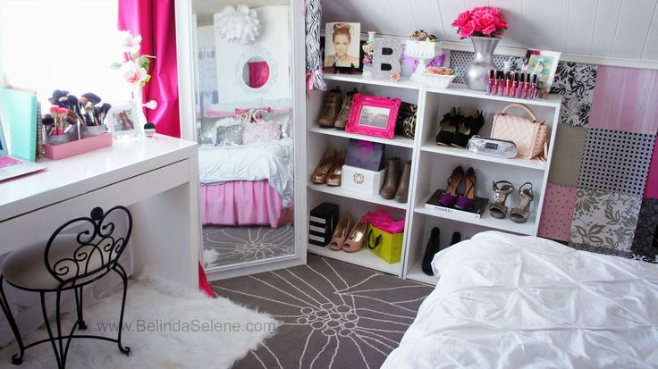 Modern Shabby Chic Room Tour Pink And White Room