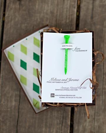 Golf Save the Date card, but you could probably turn it into any occasion. cute!
