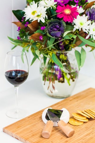 Interior styling by Vinterior Contemporary Design - Wine and cheese.