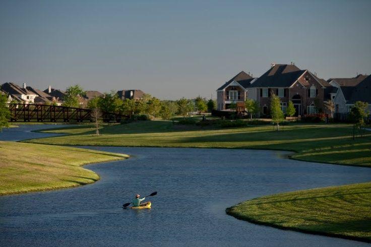 Fishing and kayaking in your own neighborhood.  Bridgeland is part of Cypress Fairbanks award winning school district.