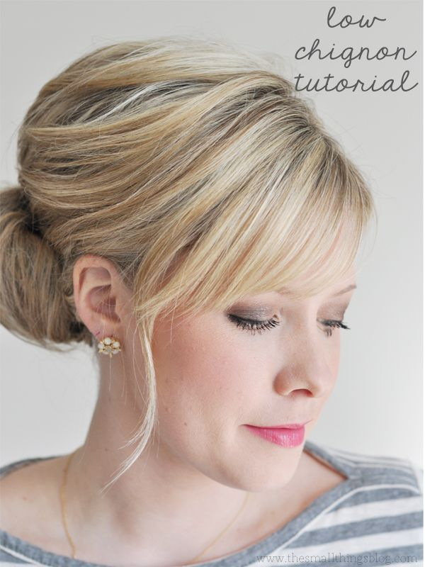 short+hairstyles+for+mother+of+groom | Eat, Drink and Be Married: DIY Low Chignon Hair Tutorial