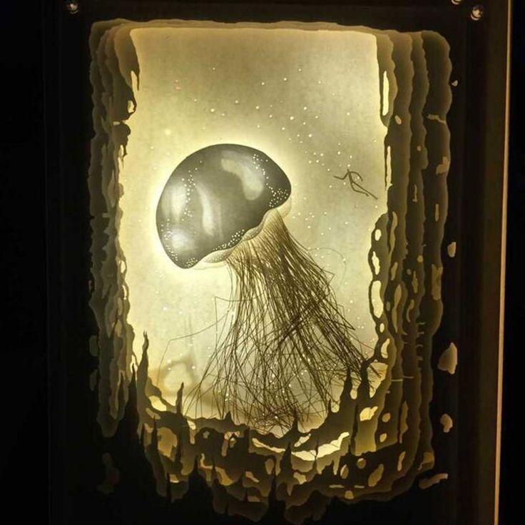 26 best jellyfish art images on Pinterest | Jellyfish art, Glass art ...