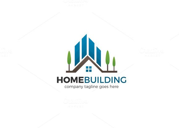 Home Building Logo by XpertgraphicD on @creativemarket