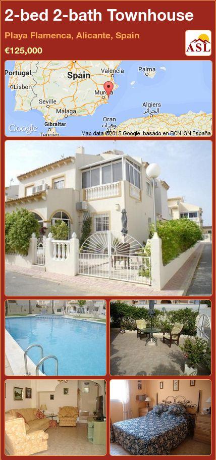 2-bed 2-bath Townhouse in Playa Flamenca, Alicante, Spain ►€125,000 #PropertyForSaleInSpain