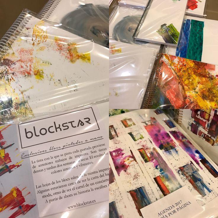 Blockstar, cuadernos y agendas 2017. Una manera muy creativa de comenzar el año, siempre hechas a mano y haciendo uso del papel a retirar en imprenta.