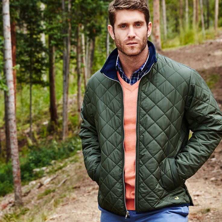 Marshall Quilted Jacket In Dark Green By Southern Marsh In