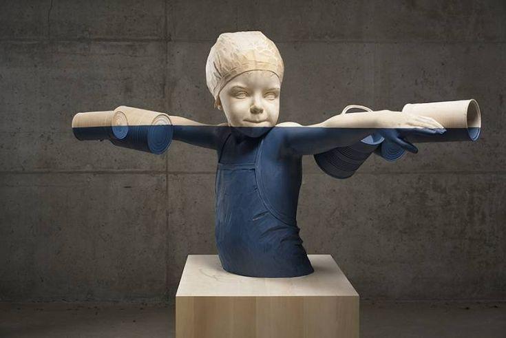 Les Sculptures en bois de Willy Verginer soulignent la Dégradation environnementale (1)