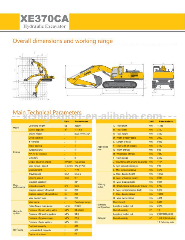 XCMG official manufacturer Earth-moving Machine XE370CA 35ton excavator machine, View excavator machine, XCMG Product Details from Xuzhou Construction Machinery Group Co., Ltd. on Alibaba.com