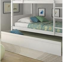 Belmont Twin Trundle Bed - Snow White