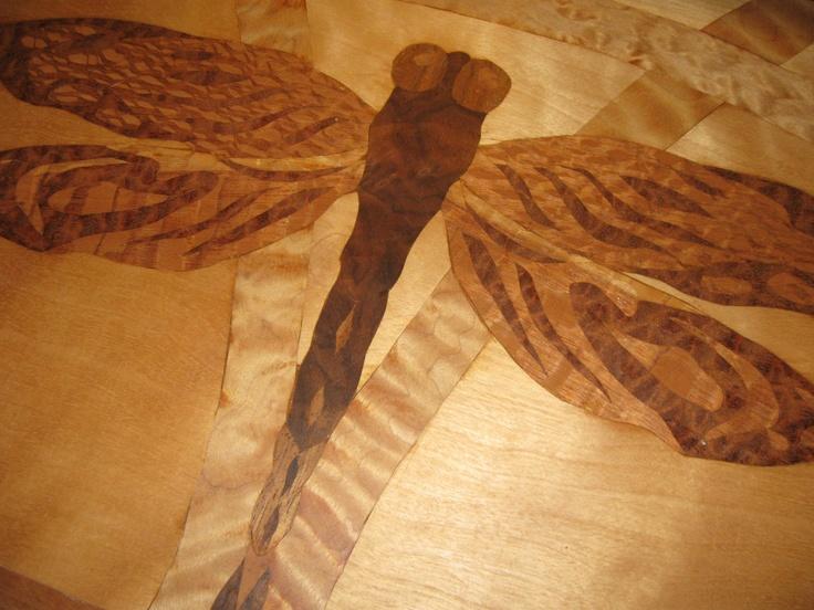 Dragonfly Wood Inlay