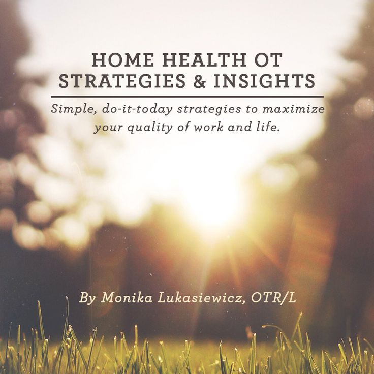 Do-it-today strategies and insights for enhancing your home health  occupational therapy practice... and life. A great book for anyone looking  to truly revitalize their practice or for someone who is just getting  started as a home health OT.  The book is divided into 2 sections. The first section is focused on  practical advice for the session with patient. The second section is  focused on strategies for maximizing the rest of your day.  Format: PDF  Page count: 40