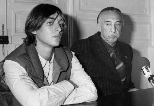 Alexandre Diego Gary, the son of Jean Seberg and Romain Gary during a press conference (10 th September 1979). Jean Seberg was found 10 days after her suicide in the back of her car. Sadly, a year later, Alexandre would lose his father to suicide as well.