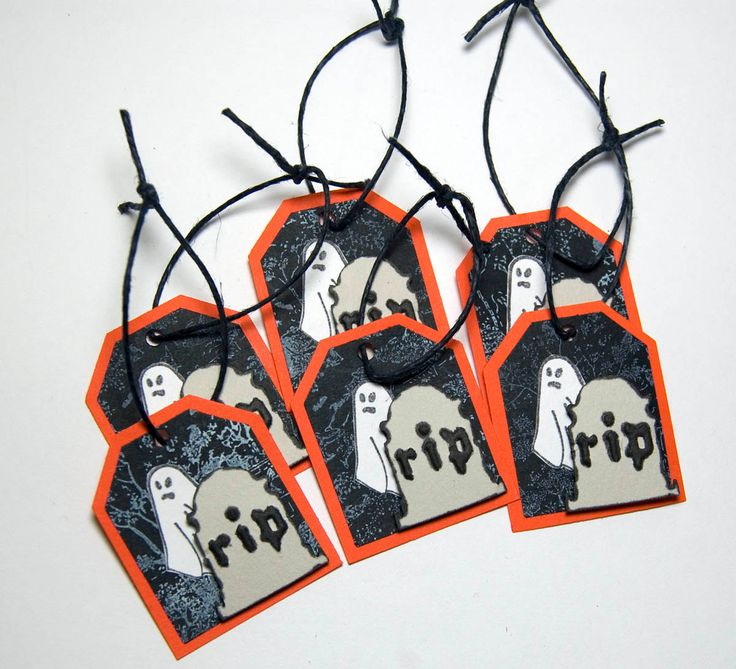 Graveyard Ghosts by stampingmamaof2 on Etsy